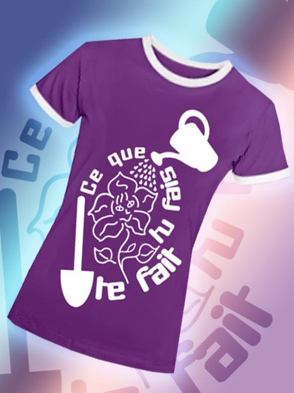 Ce que tu fais te fait - Tee shirt contrasté femme - DiploMode - Collection Positif@Fr
