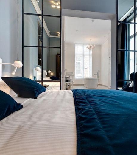 Luxueuses et spacieuses, les chambres de l'hôtel Het Arresthuis ont été construites à partir des anciennes cellules de prison